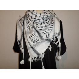 Keffieh - Foulard palestinien Noir/Blanc