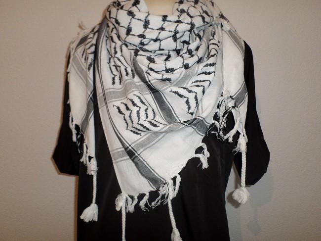 Keffieh - Foulard palestinien Noir Blanc - Boutique Salam 4c42c03963e